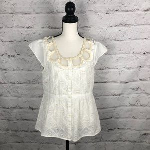 NWOT Anthropologie Floreat Blouse Sz 12